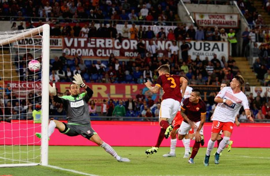 Il 5-1 lo firma Lucas Digne, di testa, su cross di Maicon. Getty Images
